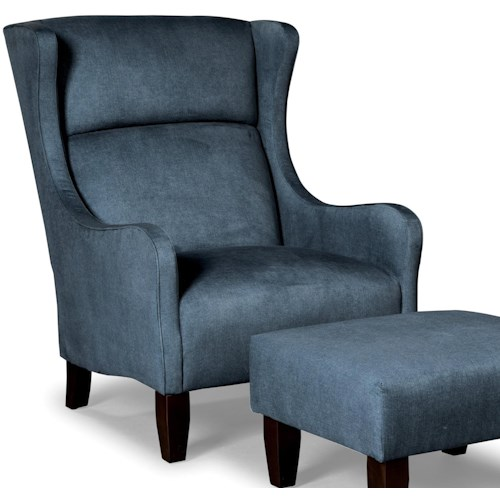 Craftmaster Accent Chairs Modern Wing Chair
