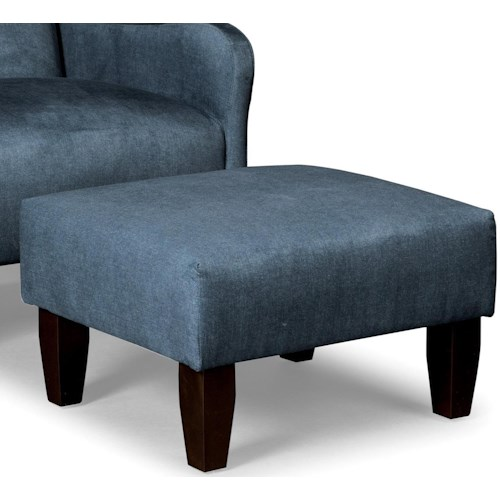 Craftmaster Accent Chairs Modern Ottoman with Tight Cushion