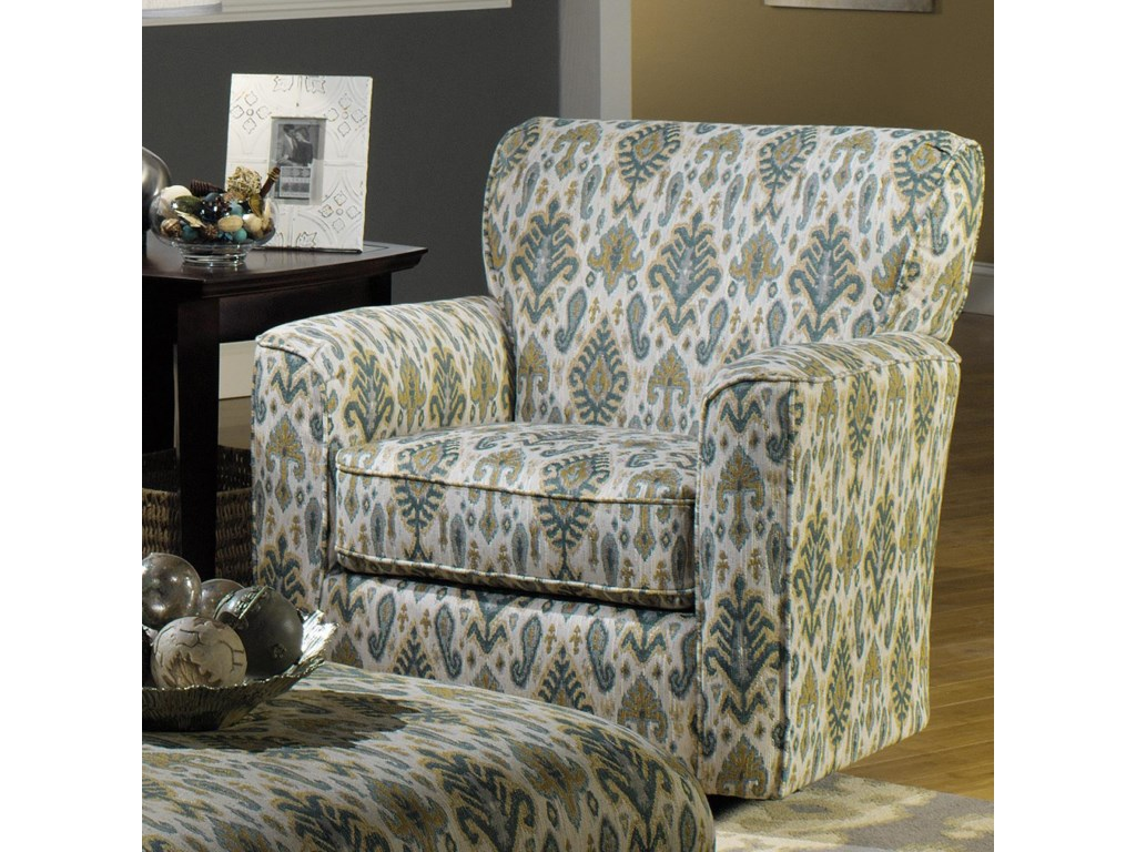 Craftmaster Accent ChairsUpholstered Swivel Chair with Flared Arms