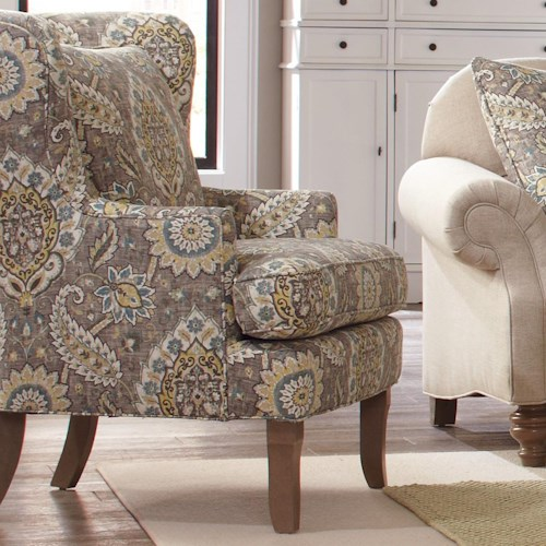 Craftmaster Accent Chairs Traditional Upholstered Wing