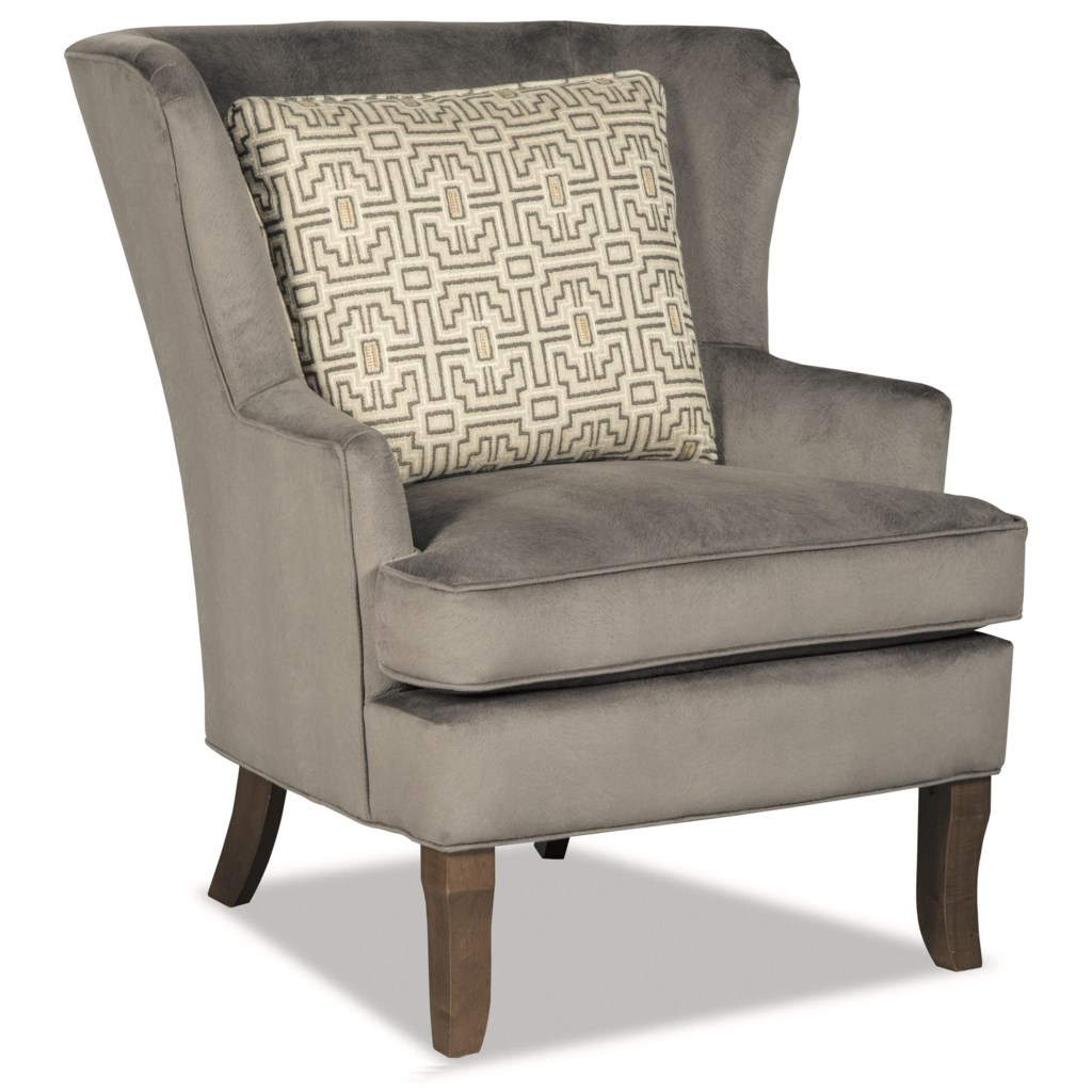 Craftmaster Accent Chairs Traditional Upholstered Wing Chair With