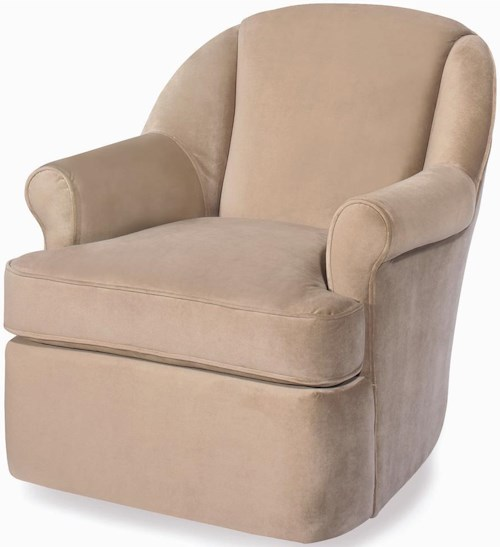 Craftmaster Accent Chairs Swivel Upholstered Chair
