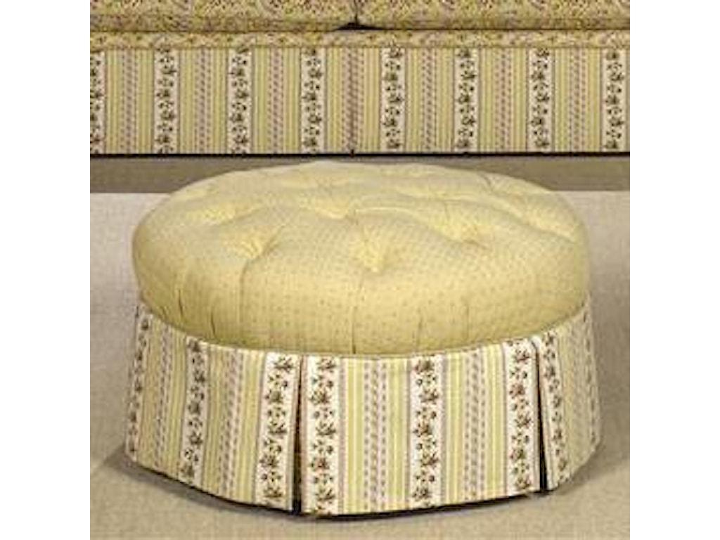 Craftmaster Accent OttomansTufted Skirted Ottoman