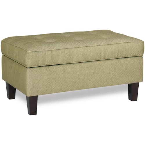 Craftmaster Accent Ottomans Transitional Storage Ottoman with Button-Tufted Seat