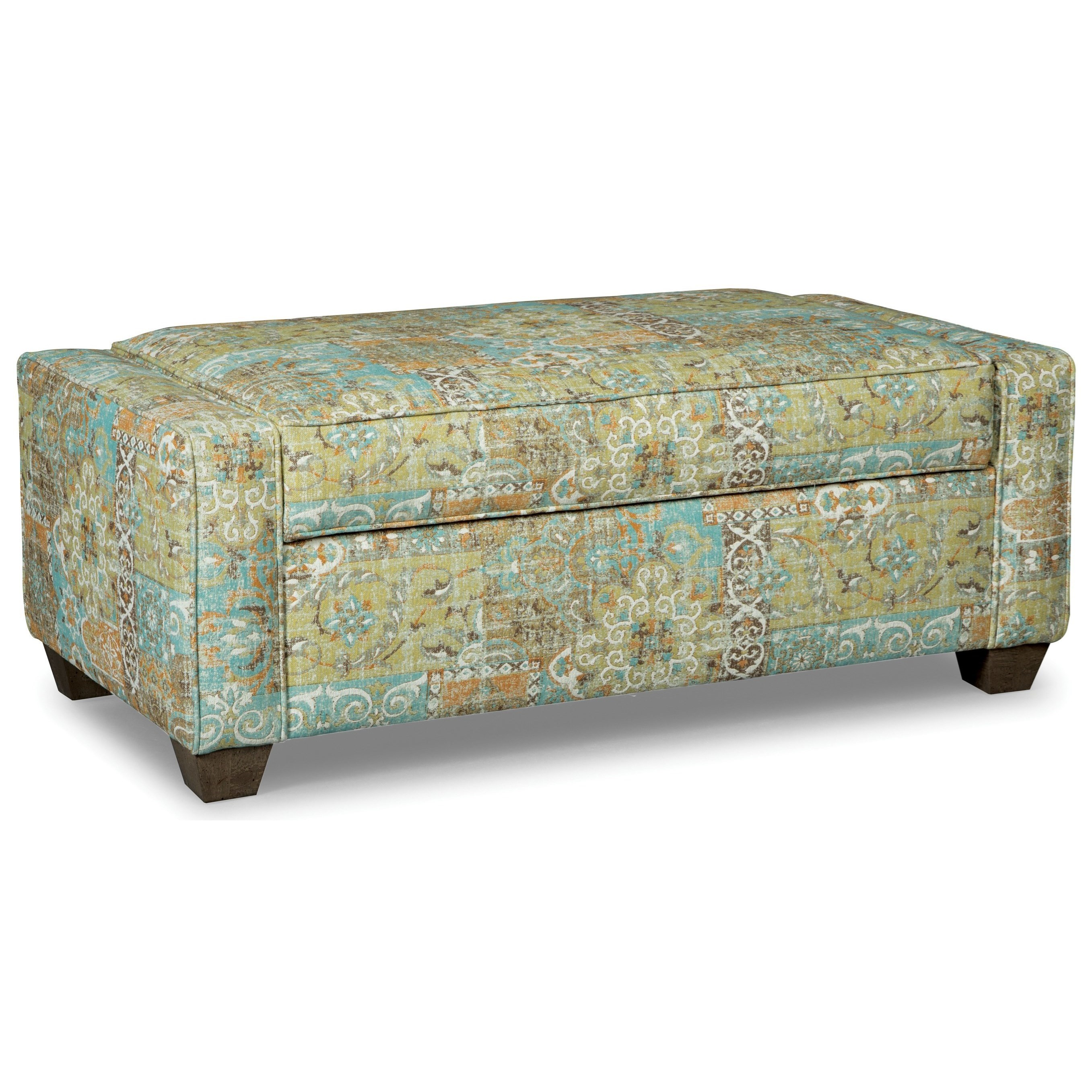 Hickory Craft Accent Ottomans Lift Top Storage Ottoman