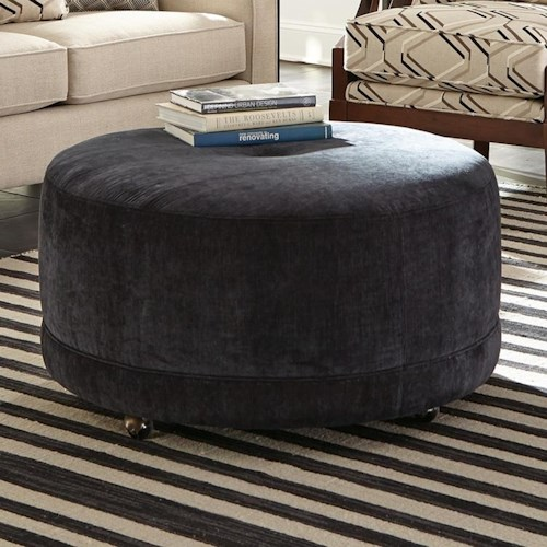 Craftmaster Accent Ottomans Round Contemporary Ottoman