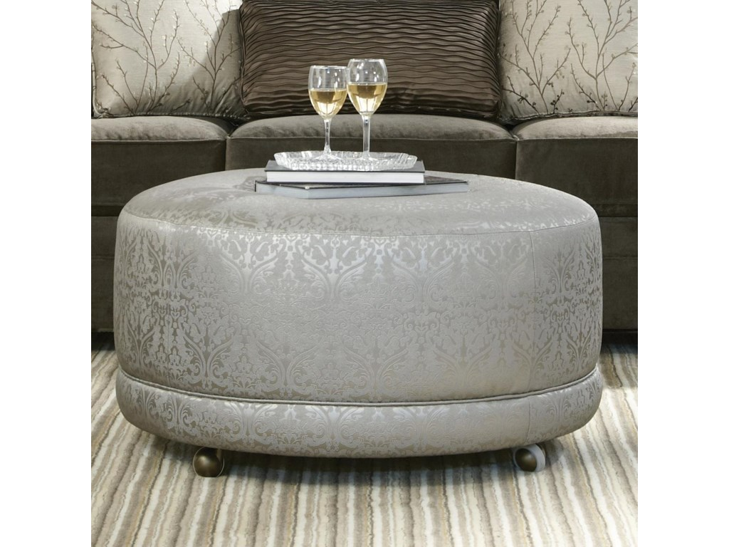 Craftmaster Accent OttomansRound Contemporary Ottoman