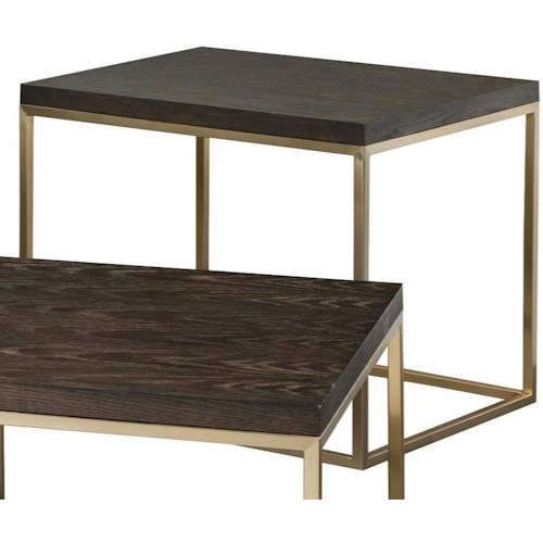 Craftmaster Craftmaster Accent Tables Rectangular End Table with Metal Base