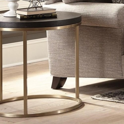 Craftmaster Craftmaster Accent Tables Round End Table with Metal Base