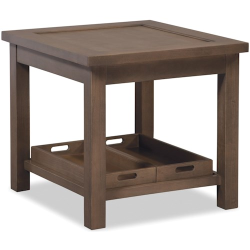 Craftmaster Craftmaster Accent Tables End Table with Two Removable Storage Trays