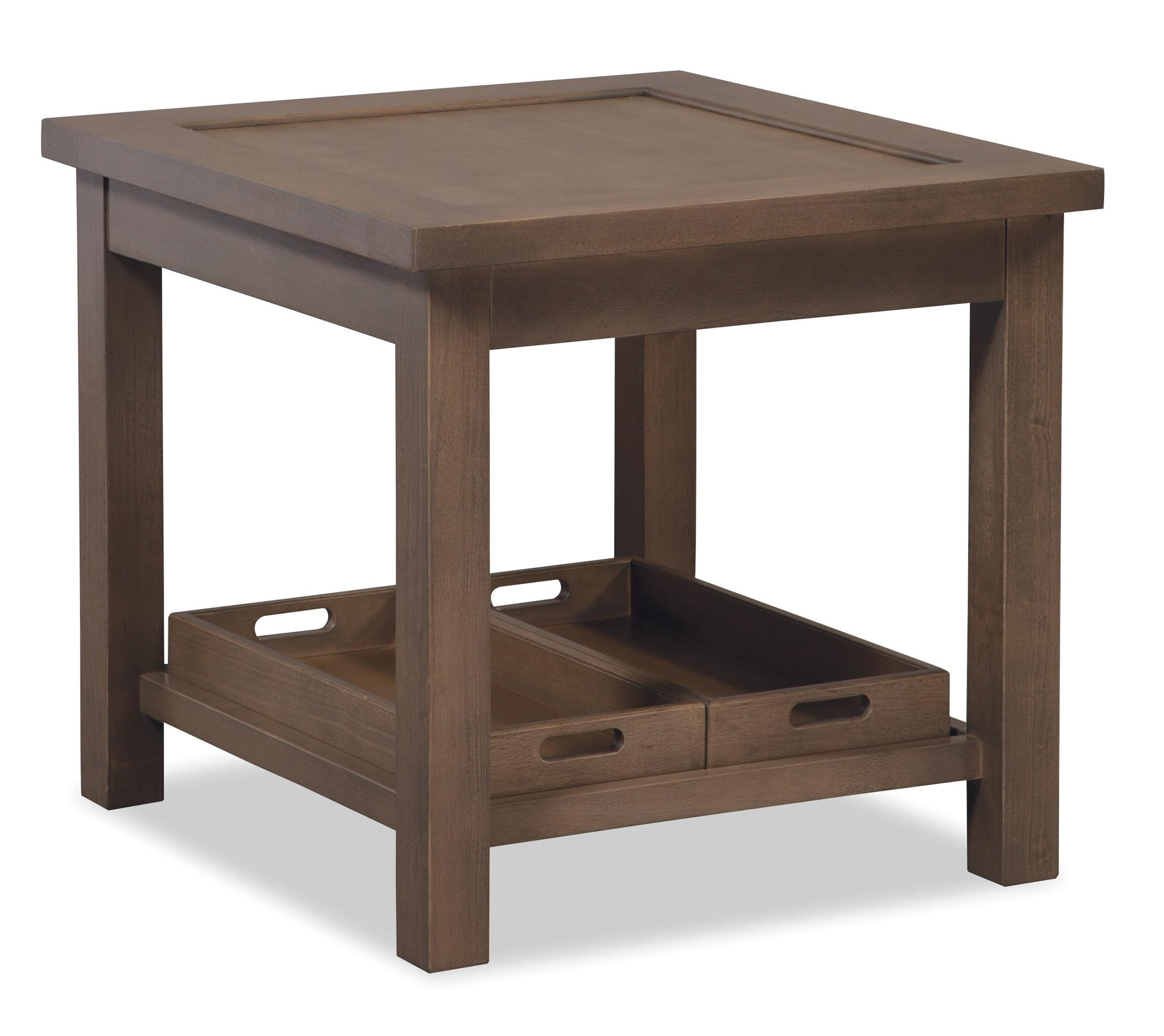 craftmaster craftmaster accent tables end table with two removable storage trays miskelly furniture end tables