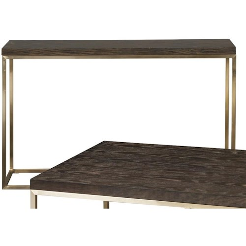 Craftmaster Craftmaster Accent Tables Rectangular Console Table with Metal Base