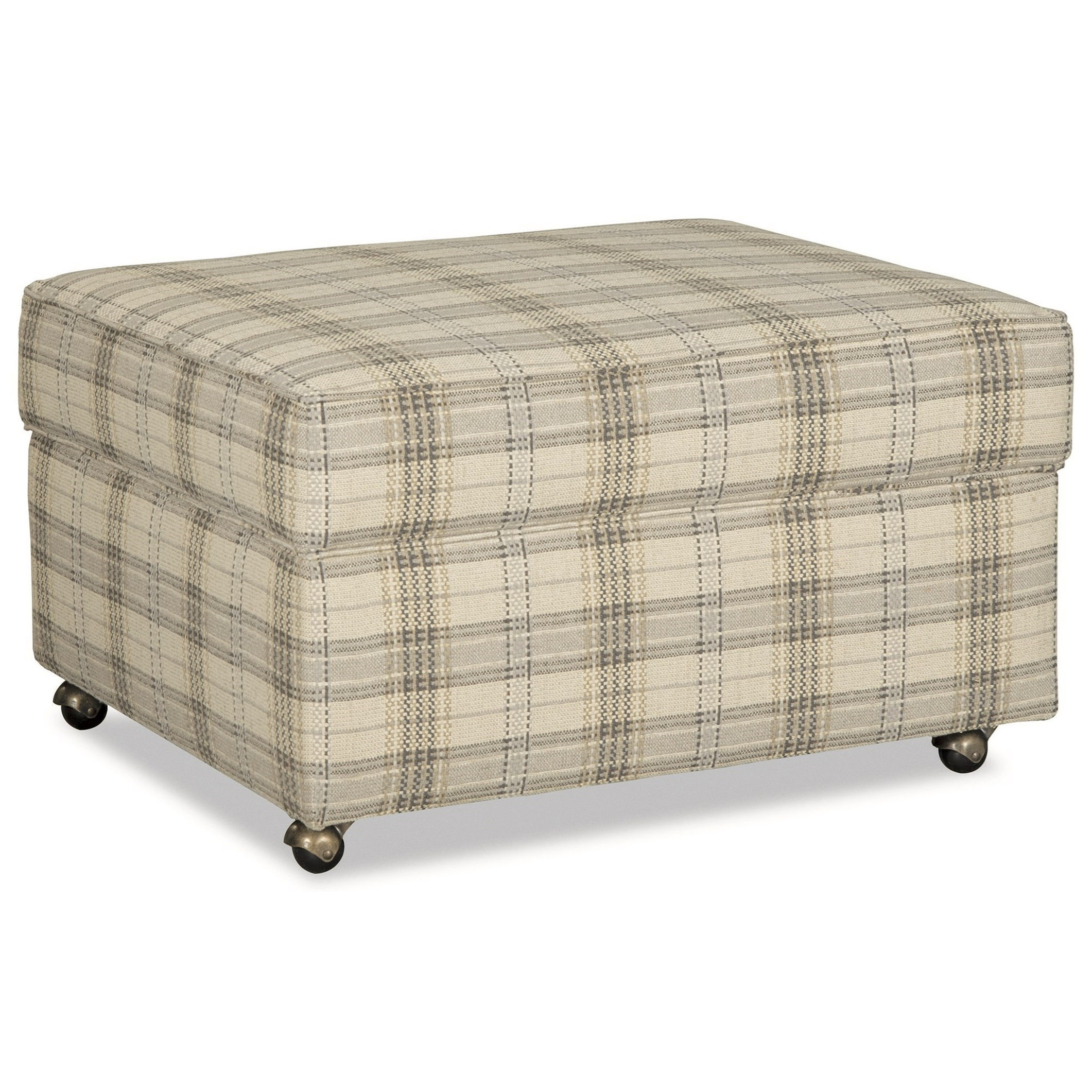 Hickory Craft F9 Custom Collection Customizable Lift Top Storage Ottoman  With Casters