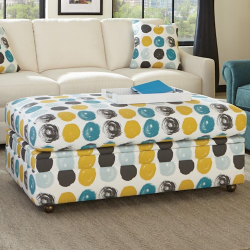 Cozy Life F9 Custom Collection Customizable Storage Ottoman with Hinge Top