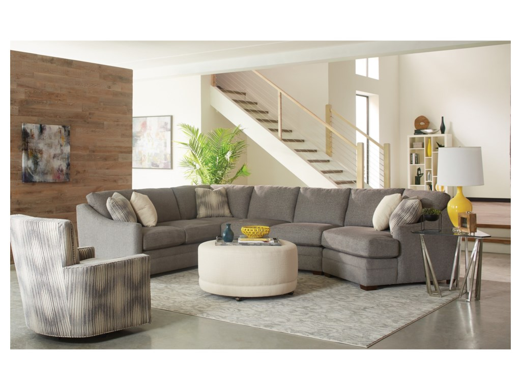 Craftmaster F9 Custom Collection3 pc Sectional Sofa