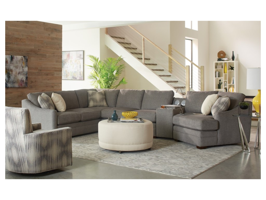 Craftmaster F9 Design Options4 pc Sectional Sofa w/ Power Console