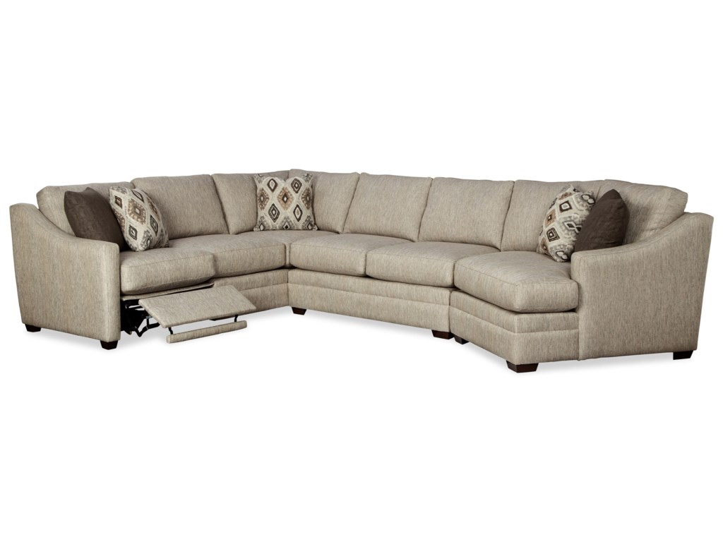 Craftmaster F9 Design Options3 Pc Sectional Sofa w/ LAF Recliner