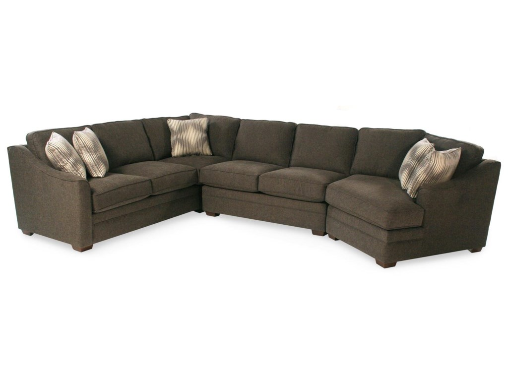 F9 Custom Collection Dancer 3-Piece Sectional w/ RAF Cuddler by Cozy Life  at Rotmans