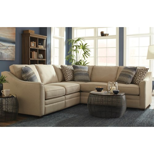 Craftmaster F9 Custom Collection Customizable 2 Piece Sectional with 1 Power Reclining Chair
