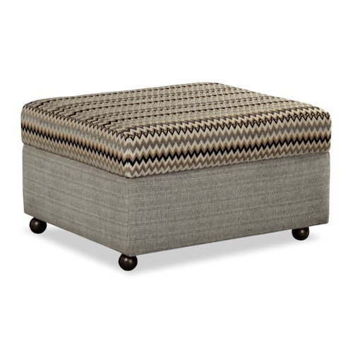 Craftmaster F9 Design Options Customizable Lift Top Storage Ottoman with Casters