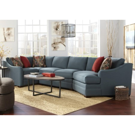 4 Pc Custom Built Sectional