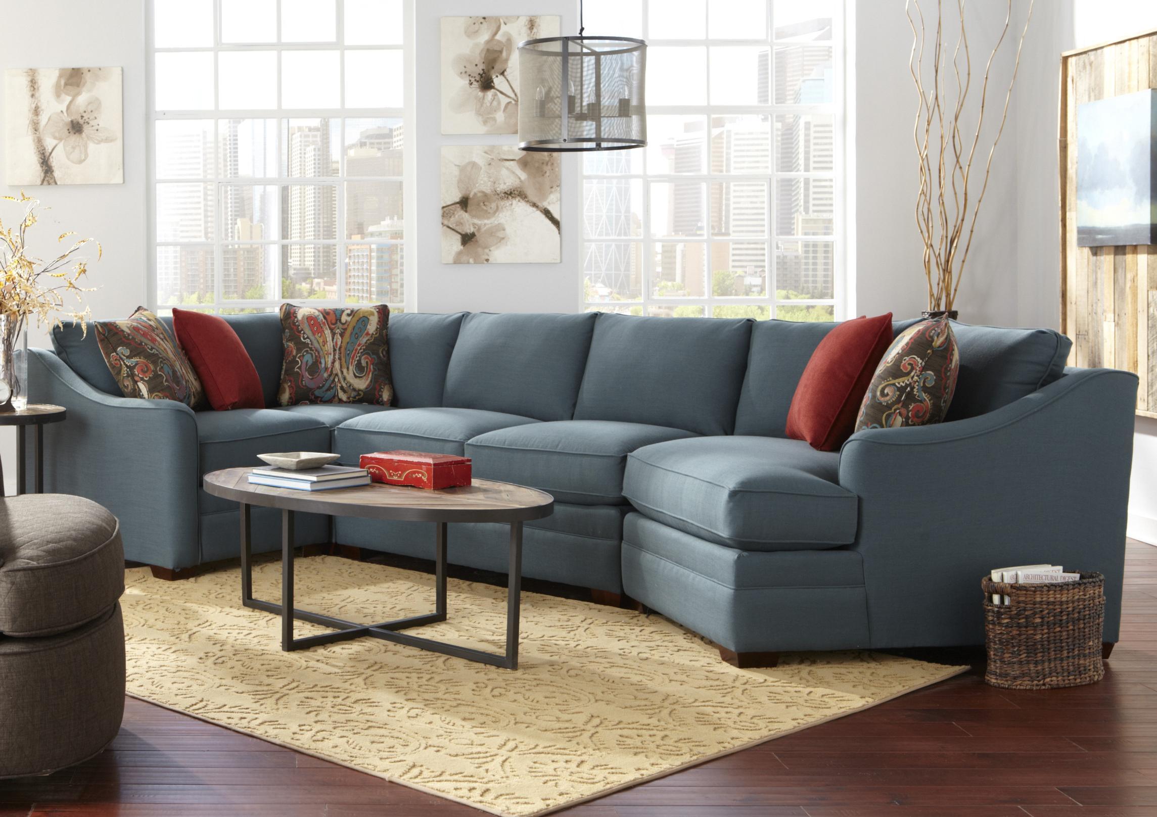 Craftmaster F9 Custom Collection Four Piece U003cbu003eCustomizableu003c/bu003e Sectional  Sofa