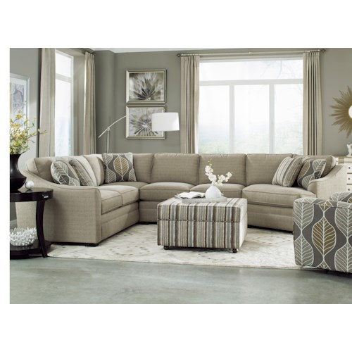 Cozy Life F9 Custom Collection <b>Customizable</b> 3-Piece Sectional with LAF Cuddler