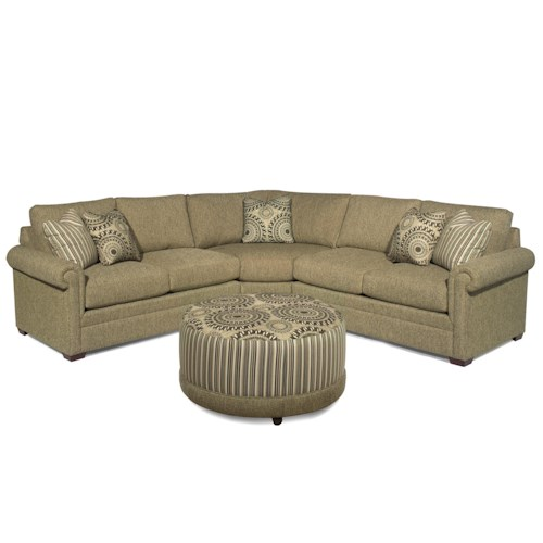 Craftmaster F9 Design Options <b>Customizable</b> 3-Piece Sectional with Pie Wedge