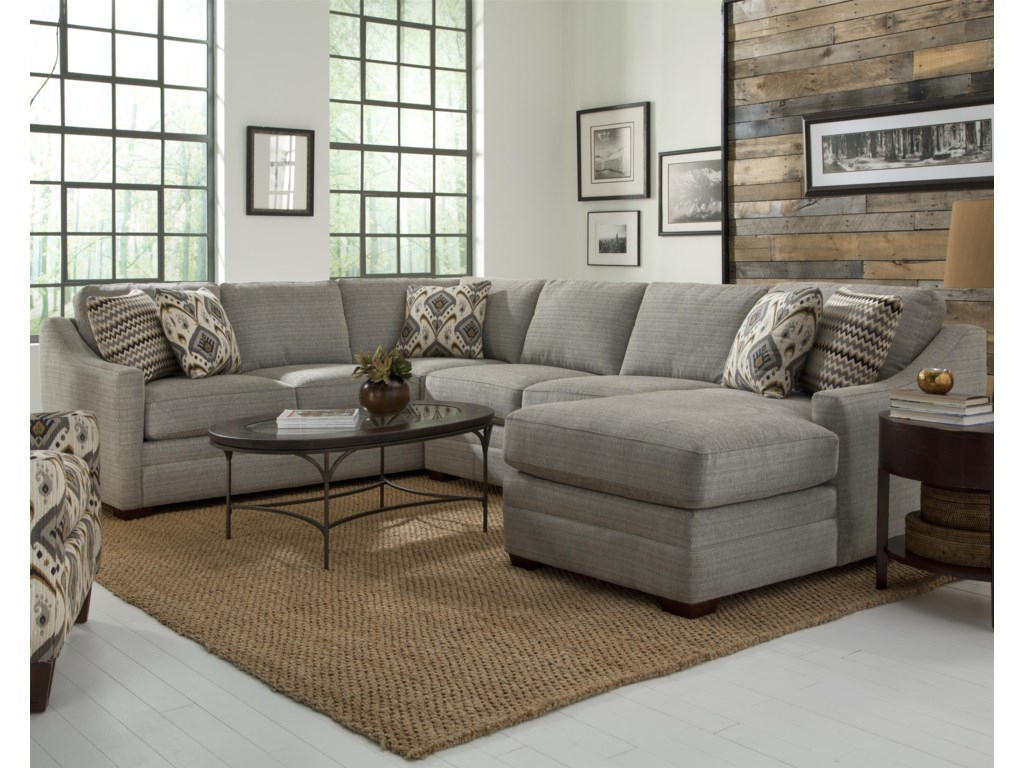 F9 Custom Collection Customizable Four Piece Sectional Sofa by Craftmaster  at Turk Furniture