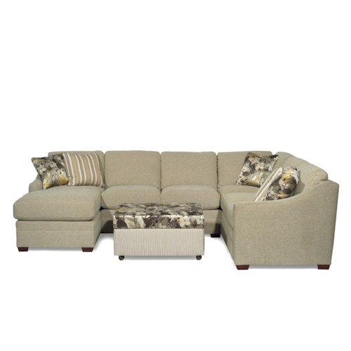 Cozy Life F9 Custom Collection <b>Customizable</b> 3-Piece Sectional with RAF Sofa w/ Return