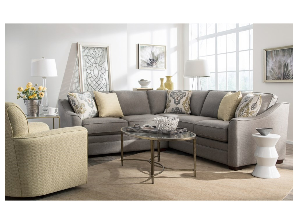 Craftmaster F9 Custom Collection2 Pc Customizable Sectional Sofa