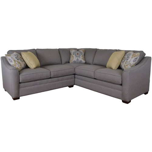 Craftmaster F9 Custom Collection Two Piece Customizable Corner Sectional Sofa with Left Return