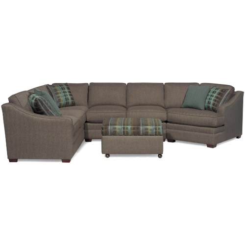 Craftmaster F9 Custom Collection <b>Customizable</b> 3-Piece Sectional with RAF Cuddler