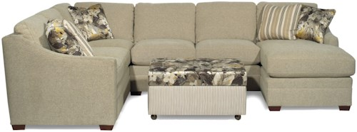 Hickory Craft F9 Custom Collection <b>Customizable</b> 3-Piece Sectional with LAF Sofa w/ Return