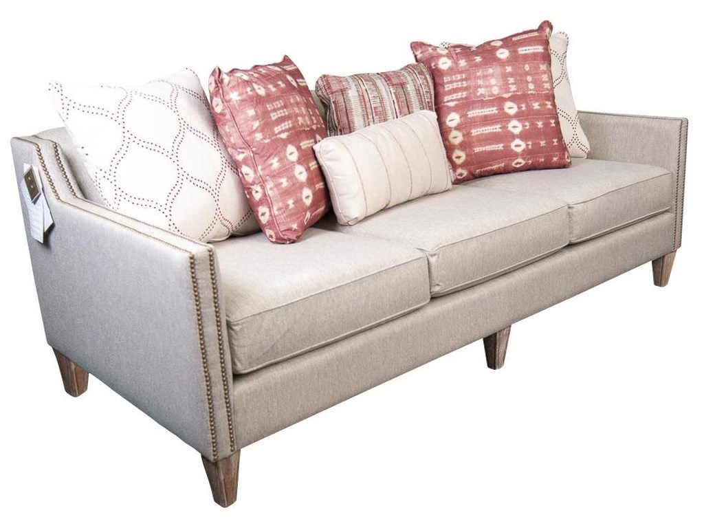 Main & Madison JuneJune Upholstered Sofa with Accent Pillows