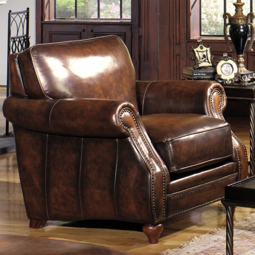 Hickory Craft L121550 Traditional Leather Stationary Chair