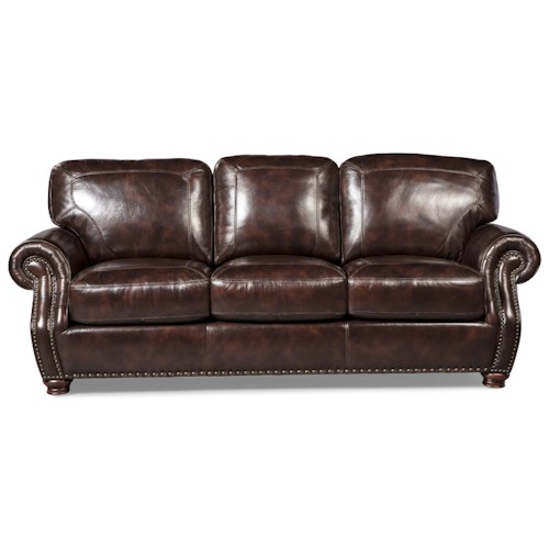 Craftmaster L161100 Traditional Sofa with Rolled Arms