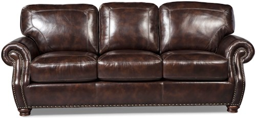 Craftmaster L1611 Traditional Sofa with Rolled Arms