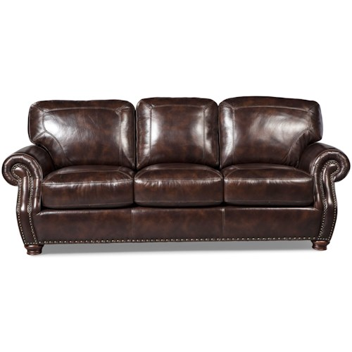 Craftmaster L161150 Traditional Sofa with Rolled Arms