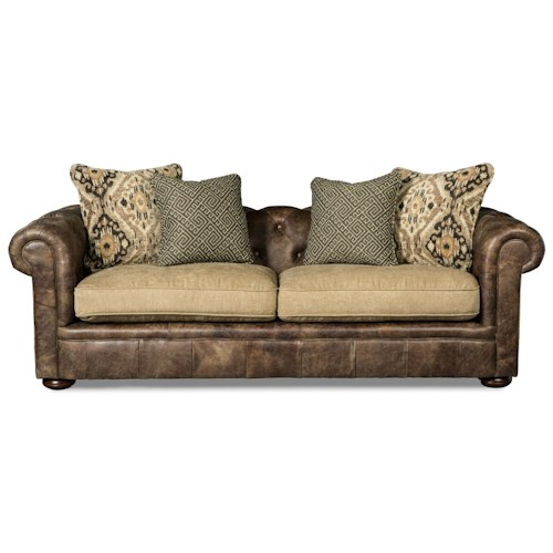 Craftmaster L161500 Traditional Sofa with Tufted Back