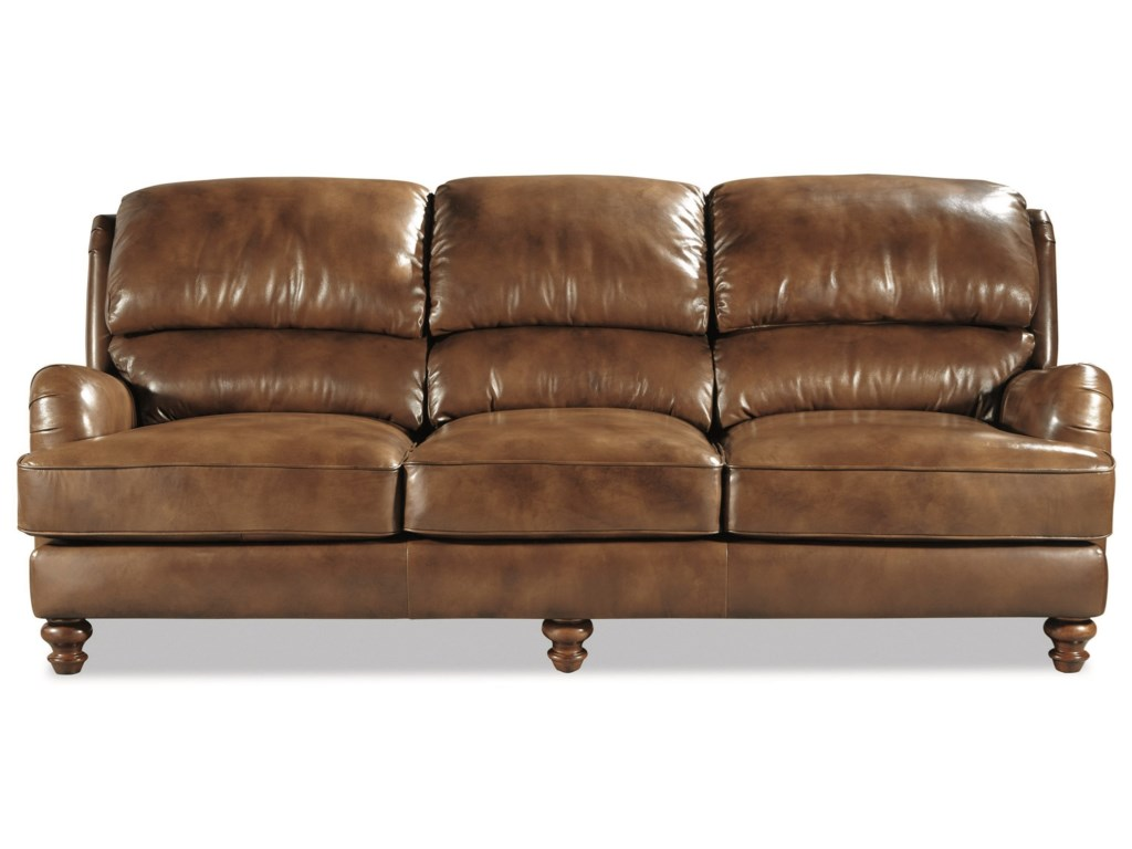 L162250 Craftmaster 100% Leather Traditional Sofa by Craftmaster at Home  Collections Furniture