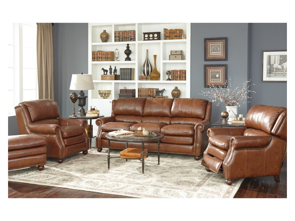 Craftmaster L164650Leather Chair and Ottoman Set