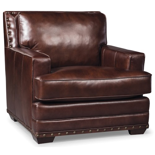 Craftmaster L165200 Transitional Chair with Nailhead Trimming