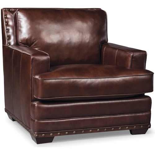 Craftmaster L165250 Transitional Chair with Nailhead Trimming