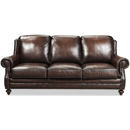 Craftmaster L171250 Craftmaster Traditonal Leather Sofa