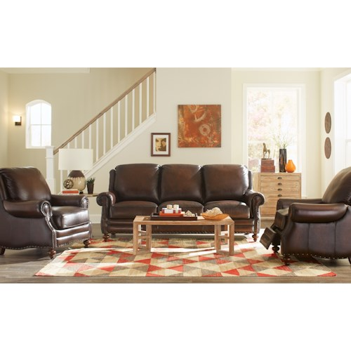 Craftmaster L171250 Craftmaster Leather Living Room Group