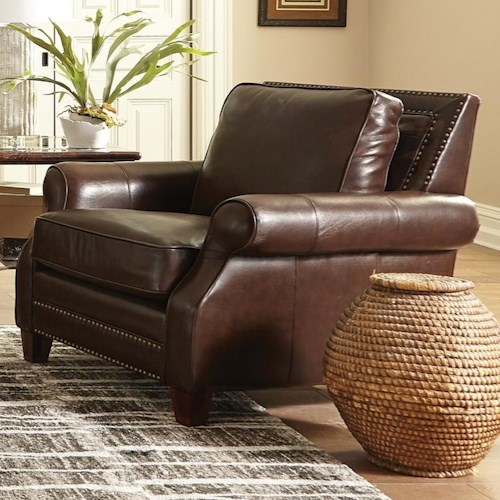 Craftmaster L173050 Transitional Chair with Nailhead Studs