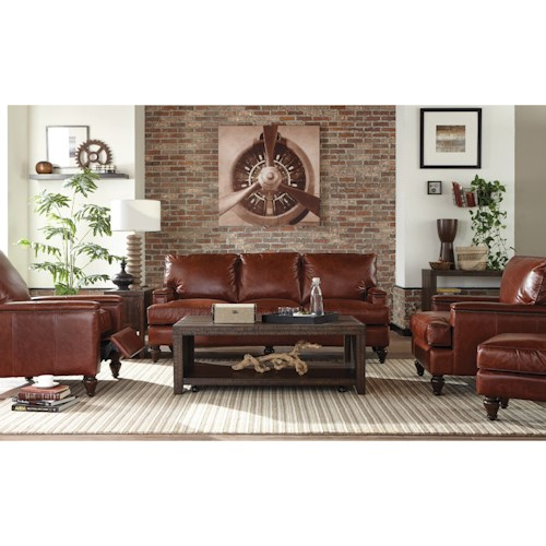 Craftmaster L180950 Leather Living Room Group