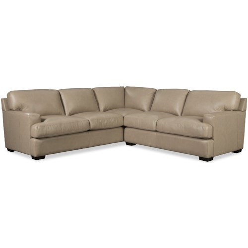 Craftmaster L187156 Two Piece Leather Sectional Sofa