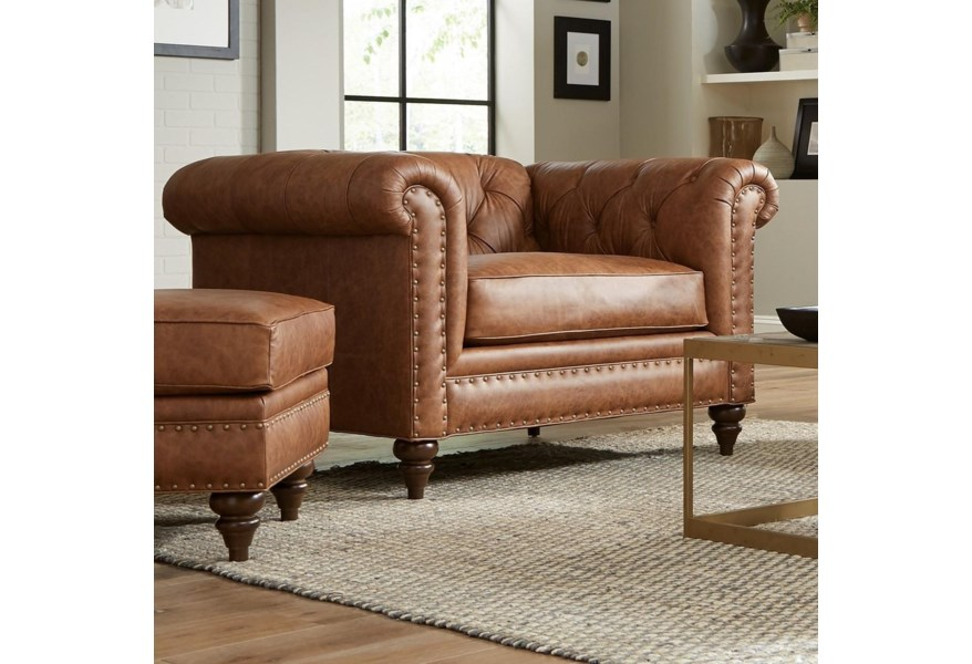 Leather Chesterfield Oversized